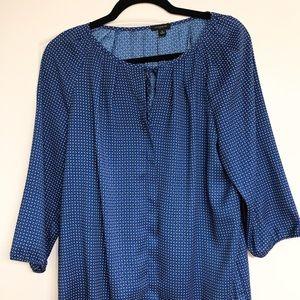 Ann Taylor Women's Blue Blouse- long sleeve